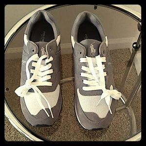 POLO SPORT by Ralph Lauren GREY Suede Sneakers